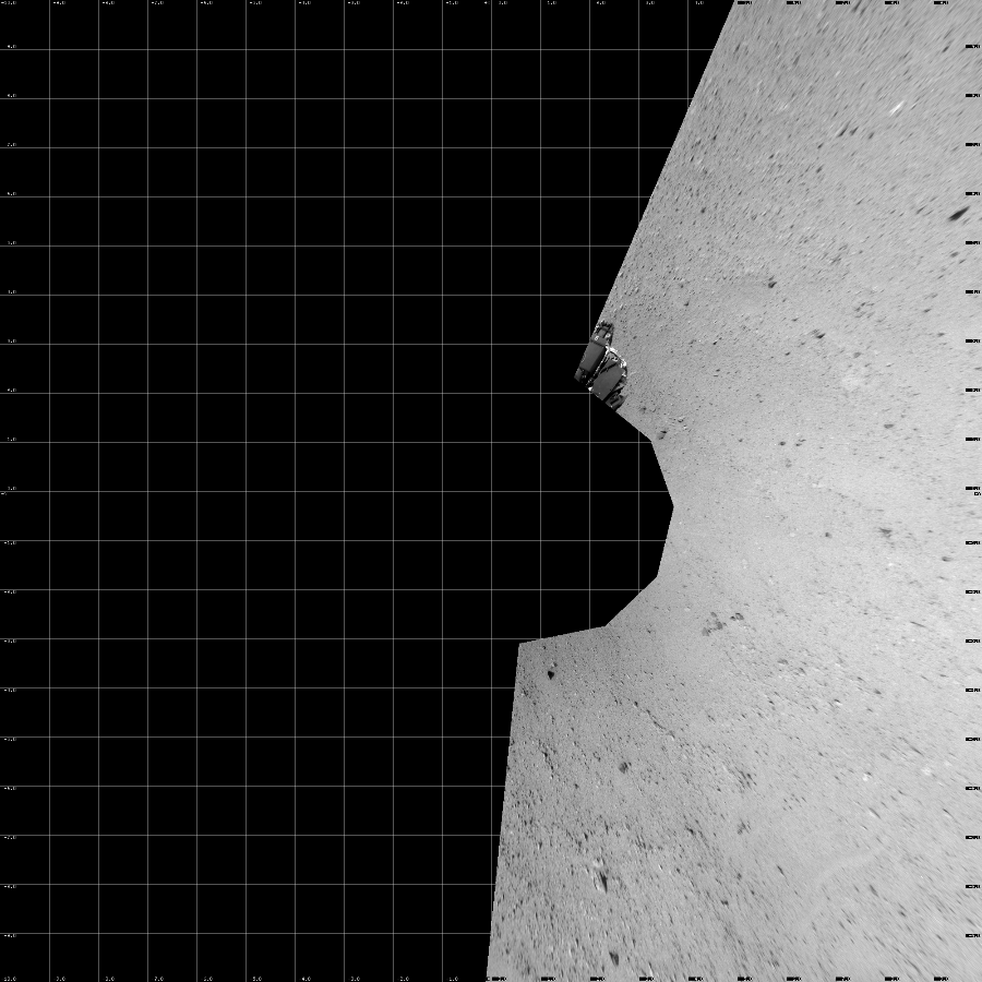 This Vertical Projection image was acquired by NASA's Mars rover Curiosity on Sol 41, at drive 1238, site number 4.