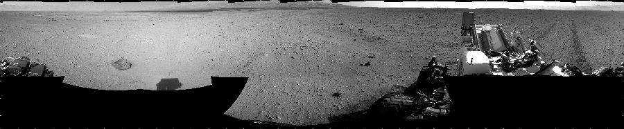 This Cylindrical image was acquired by NASA's Mars rover Curiosity on Sol 43, at drive 2002, site number 4.