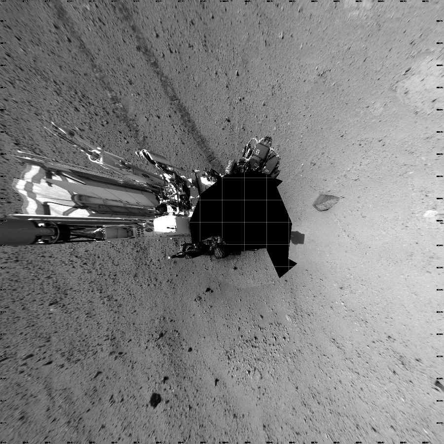 This Vertical Projection image was acquired by NASA's Mars rover Curiosity on Sol 43, at drive 2002, site number 4.