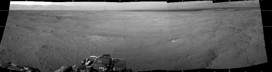 This Cylindrical image was acquired by NASA's Mars rover Curiosity on Sol 45, at drive 2100, site number 4.