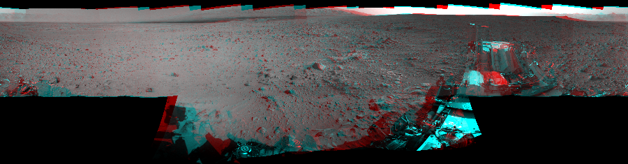This 3D Mosaics image was acquired by NASA's Mars rover Curiosity on Sol 49, at drive 2778, site number 4.