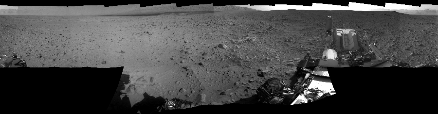 This Cylindrical Perspective image was acquired by NASA's Mars rover Curiosity on Sol 49, at drive 2778, site number 4.