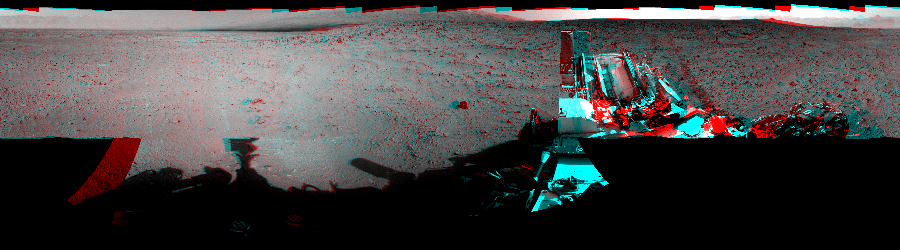 This 3D Mosaics image was acquired by NASA's Mars rover Curiosity on Sol 50, at drive 2956, site number 4.