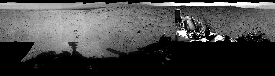 This Cylindrical Perspective image was acquired by NASA's Mars rover Curiosity on Sol 50, at drive 2956, site number 4.