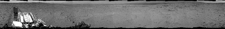 This Cylindrical image was acquired by NASA's Mars rover Curiosity on Sol 52, at drive 3076, site number 4.