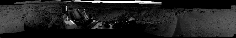 This Cylindrical image was acquired by NASA's Mars rover Curiosity on Sol 55, at drive 3416, site number 4.