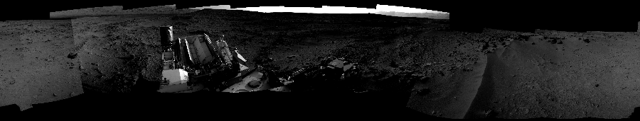This Cylindrical Perspective image was acquired by NASA's Mars rover Curiosity on Sol 55, at drive 3416, site number 4.