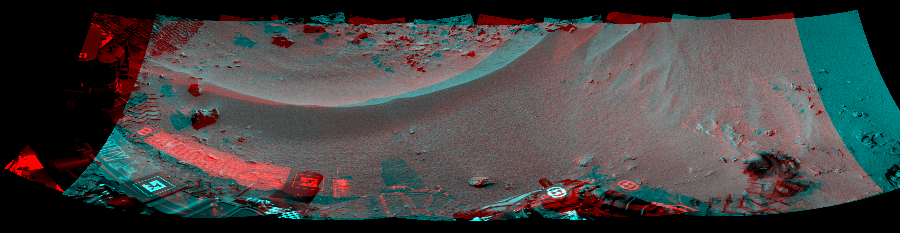 This 3D Mosaics image was acquired by NASA's Mars rover Curiosity on Sol 56, at drive 3474, site number 4.