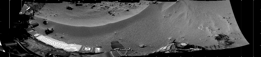 This Cylindrical image was acquired by NASA's Mars rover Curiosity on Sol 56, at drive 3474, site number 4.