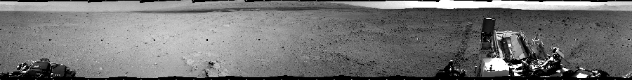 This Cylindrical image was acquired by NASA's Mars rover Curiosity on Sol 38, at drive 404, site number 4.