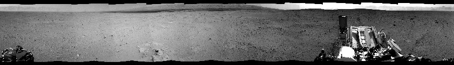 This Cylindrical Perspective image was acquired by NASA's Mars rover Curiosity on Sol 38, at drive 404, site number 4.