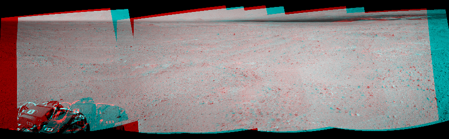 This 3D Mosaics image was acquired by NASA's Mars rover Curiosity on Sol 39, at drive 468, site number 4.