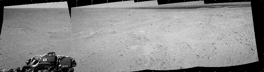 This Cylindrical image was acquired by NASA's Mars rover Curiosity on Sol 39, at drive 468, site number 4.