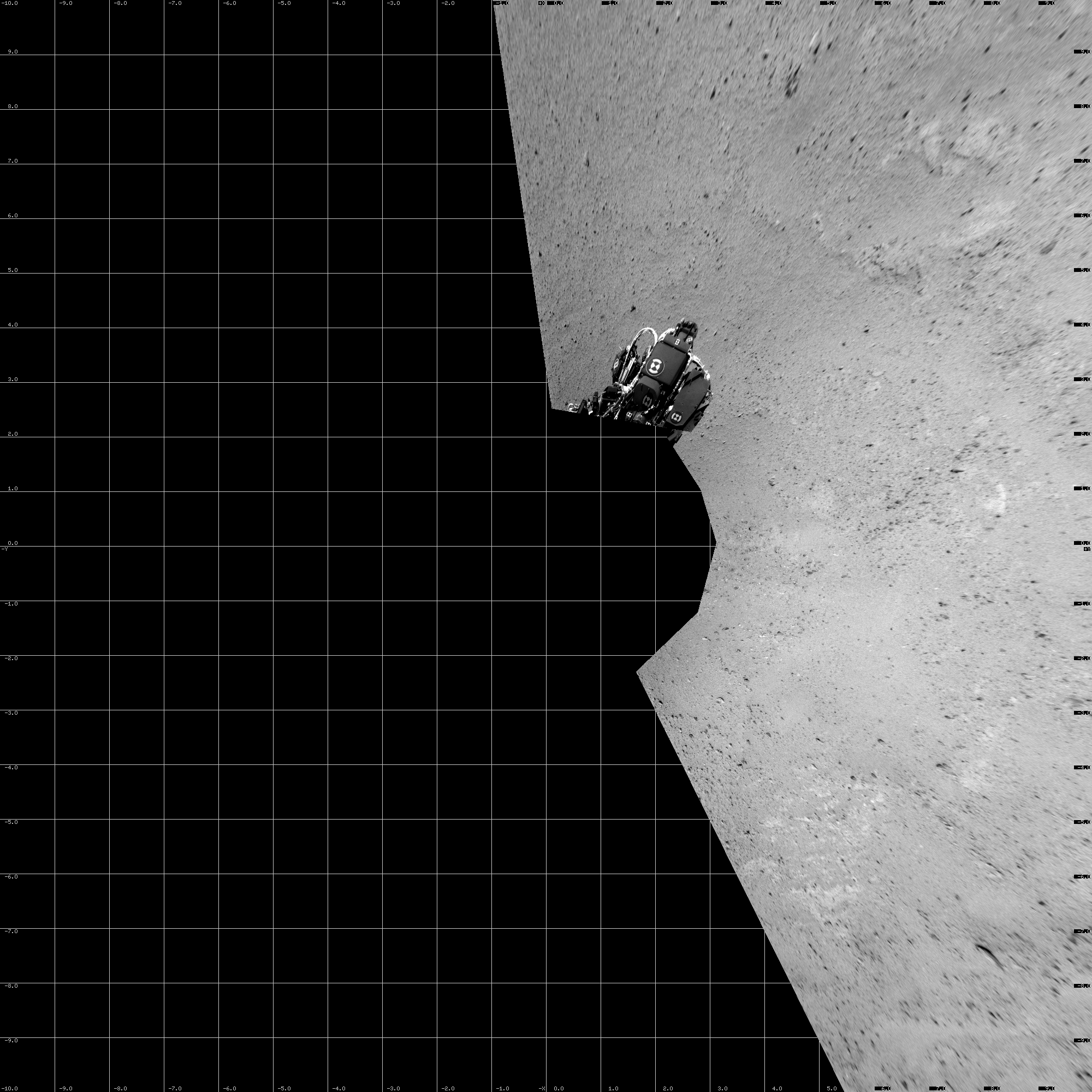 This Vertical Projection image was acquired by NASA's Mars rover Curiosity on Sol 39, at drive 468, site number 4.