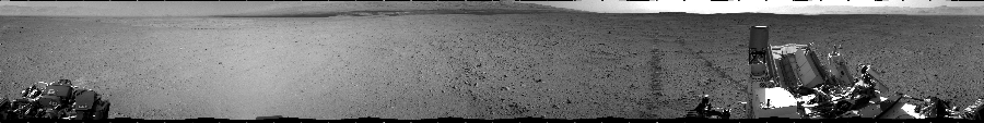 This Cylindrical image was acquired by NASA's Mars rover Curiosity on Sol 40, at drive 916, site number 4.