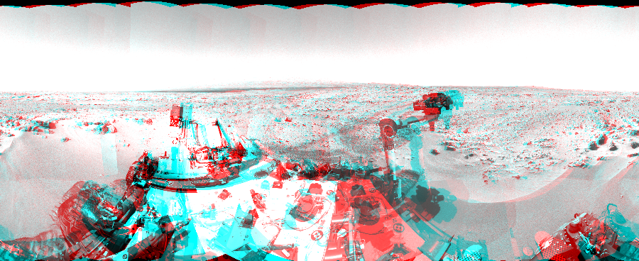 This 3D Mosaics image was acquired by NASA's Mars rover Curiosity on Sol 60, at drive 104, site number 5.