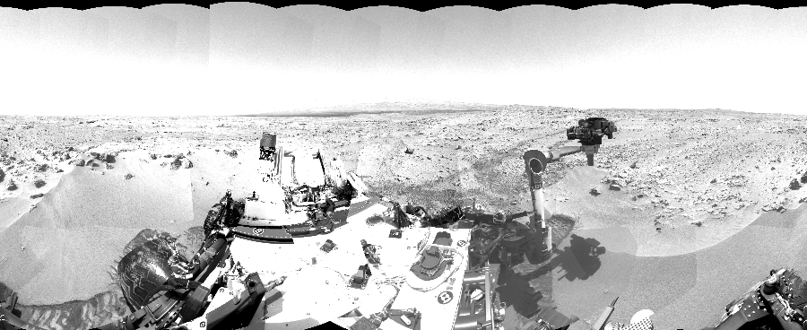 This Cylindrical image was acquired by NASA's Mars rover Curiosity on Sol 60, at drive 104, site number 5.