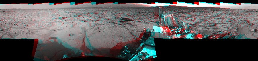 This Cylindrical Perspective image was acquired by NASA's Mars rover Curiosity on Sol 123, at drive 1070, site number 5.