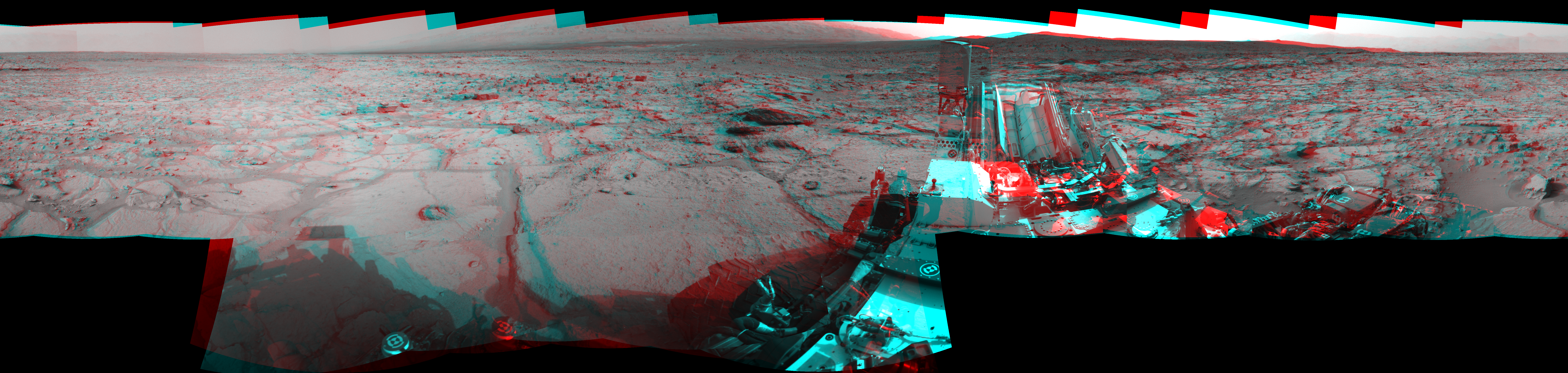 This 3D Mosaics image was acquired by NASA's Mars rover Curiosity on Sol 123, at drive 1070, site number 5.