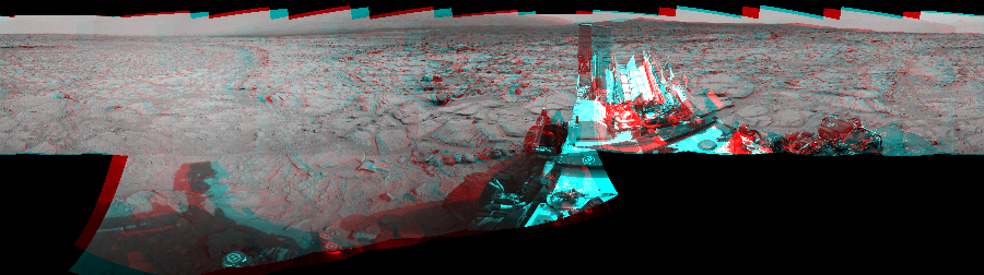 This Cylindrical Perspective image was acquired by NASA's Mars rover Curiosity on Sol 125, at drive 1216, site number 5.