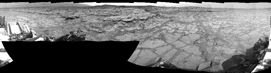 This Cylindrical Perspective image was acquired by NASA's Mars rover Curiosity on Sol 125, at drive 1398, site number 5.