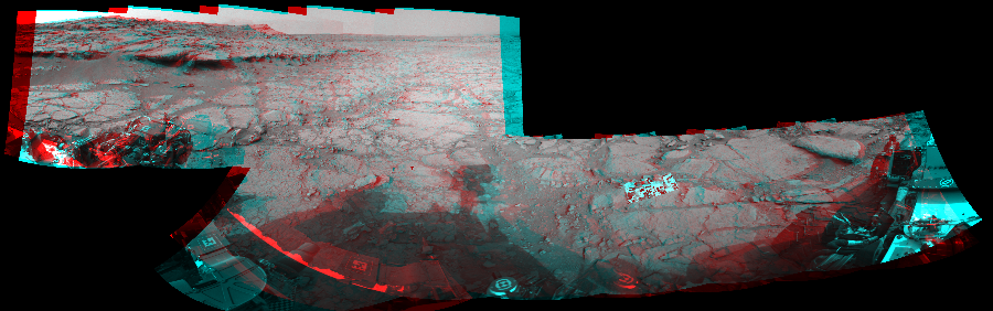 This 3D Mosaics image was acquired by NASA's Mars rover Curiosity on Sol 127, at drive 1576, site number 5.