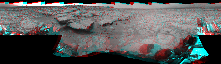 This 3D Mosaics image was acquired by NASA's Mars rover Curiosity on Sol 131, at drive 1662, site number 5.