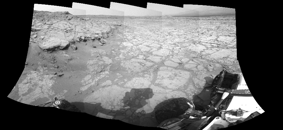 This Cylindrical Perspective image was acquired by NASA's Mars rover Curiosity on Sol 130, at drive 1662, site number 5.