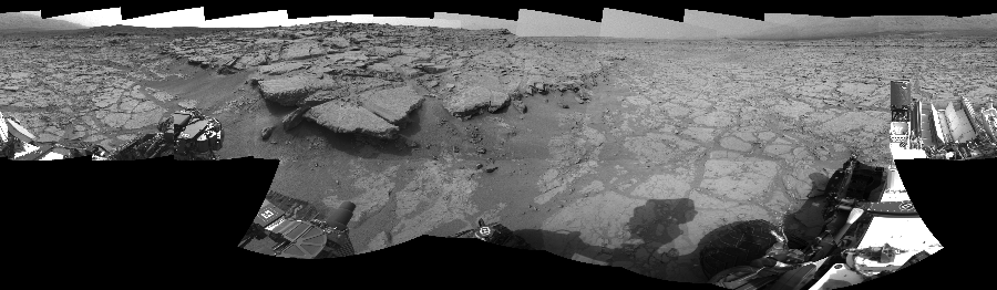 This Cylindrical Perspective image was acquired by NASA's Mars rover Curiosity on Sol 131, at drive 1662, site number 5.
