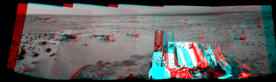 This 3D Mosaics image was acquired by NASA's Mars rover Curiosity on Sol 100, at drive 178, site number 5.