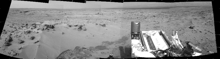 This Cylindrical image was acquired by NASA's Mars rover Curiosity on Sol 100, at drive 178, site number 5.