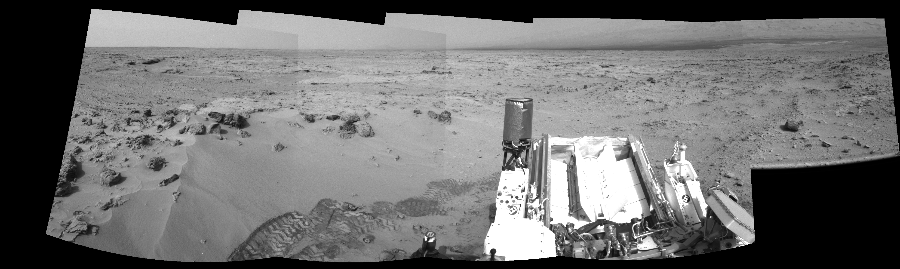 This Cylindrical Perspective image was acquired by NASA's Mars rover Curiosity on Sol 100, at drive 178, site number 5.