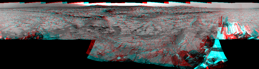 This 3D Mosaics image was acquired by NASA's Mars rover Curiosity on Sol 133, at drive 1858, site number 5.