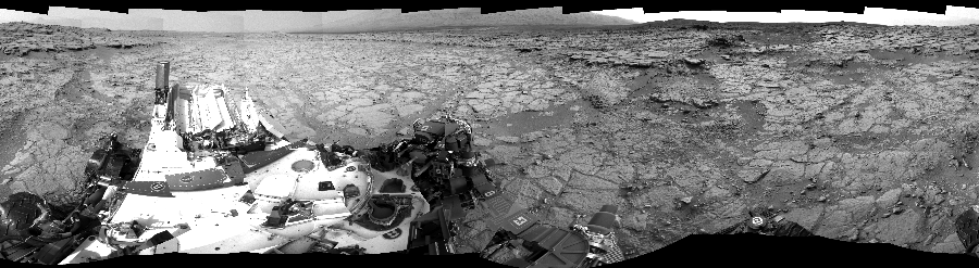 This Cylindrical Perspective image was acquired by NASA's Mars rover Curiosity on Sol 135, at drive 1858, site number 5.