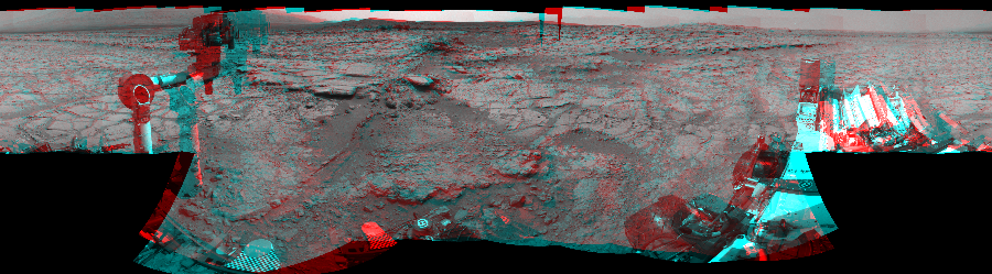 This 3D Mosaics image was acquired by NASA's Mars rover Curiosity on Sol 147, at drive 1902, site number 5.