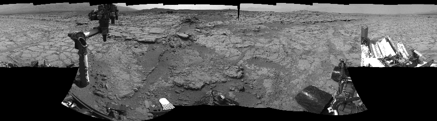 This Cylindrical Perspective image was acquired by NASA's Mars rover Curiosity on Sol 147, at drive 1902, site number 5.
