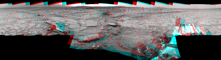 This 3D Mosaics image was acquired by NASA's Mars rover Curiosity on Sol 157, at drive 1954, site number 5.