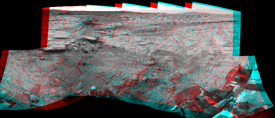 This 3D Mosaics image was acquired by NASA's Mars rover Curiosity on Sol 159, at drive 1986, site number 5.