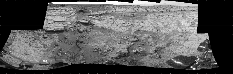This Cylindrical image was acquired by NASA's Mars rover Curiosity on Sol 159, at drive 1986, site number 5.
