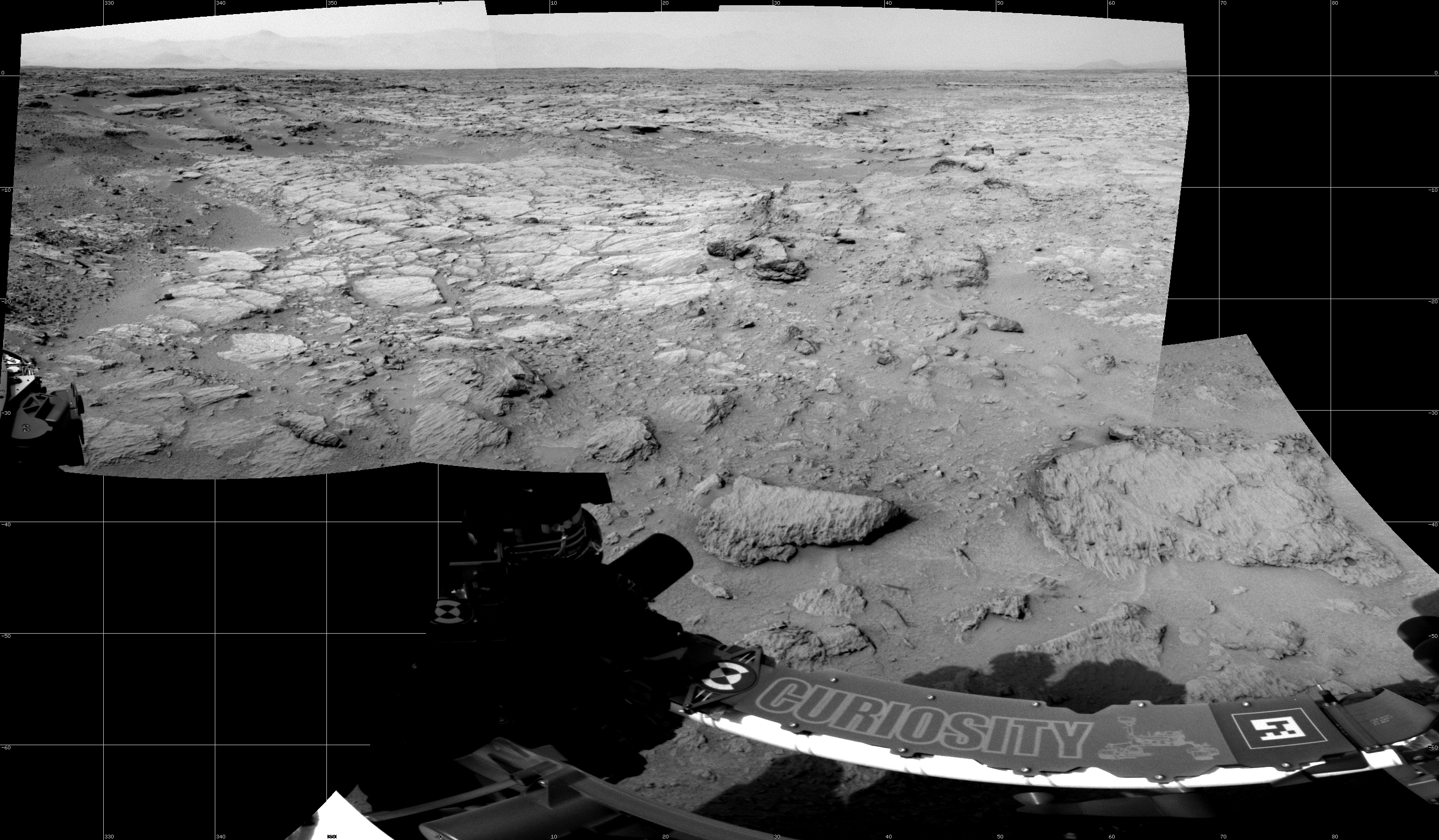 This Cylindrical image was acquired by NASA's Mars rover Curiosity on Sol 111, at drive 406, site number 5.