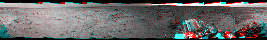 This 3D Mosaics image was acquired by NASA's Mars rover Curiosity on Sol 118, at drive 432, site number 5.