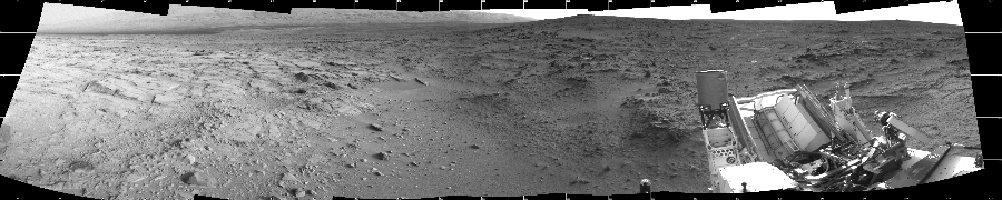 This Cylindrical image was acquired by NASA's Mars rover Curiosity on Sol 113, at drive 432, site number 5.