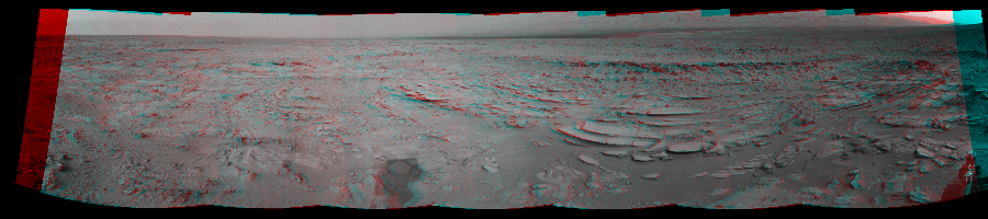 This Cylindrical Perspective image was acquired by NASA's Mars rover Curiosity on Sol 120, at drive 624, site number 5.