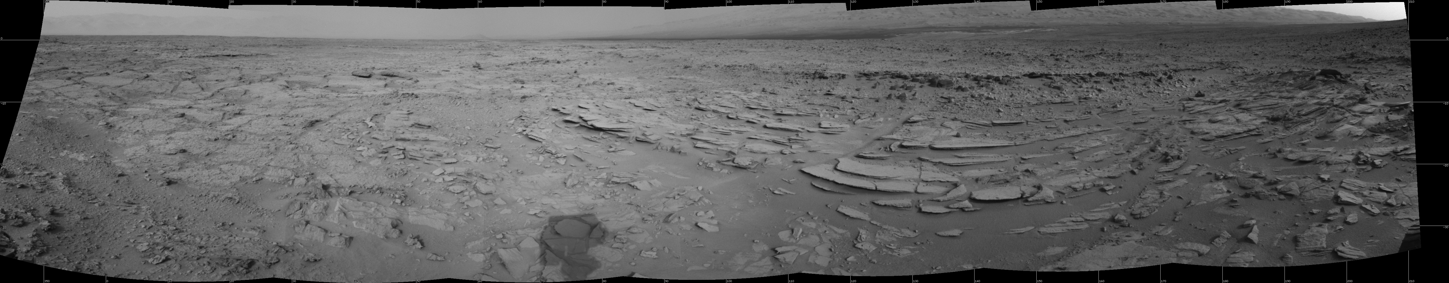 This Cylindrical image was acquired by NASA's Mars rover Curiosity on Sol 120, at drive 624, site number 5.