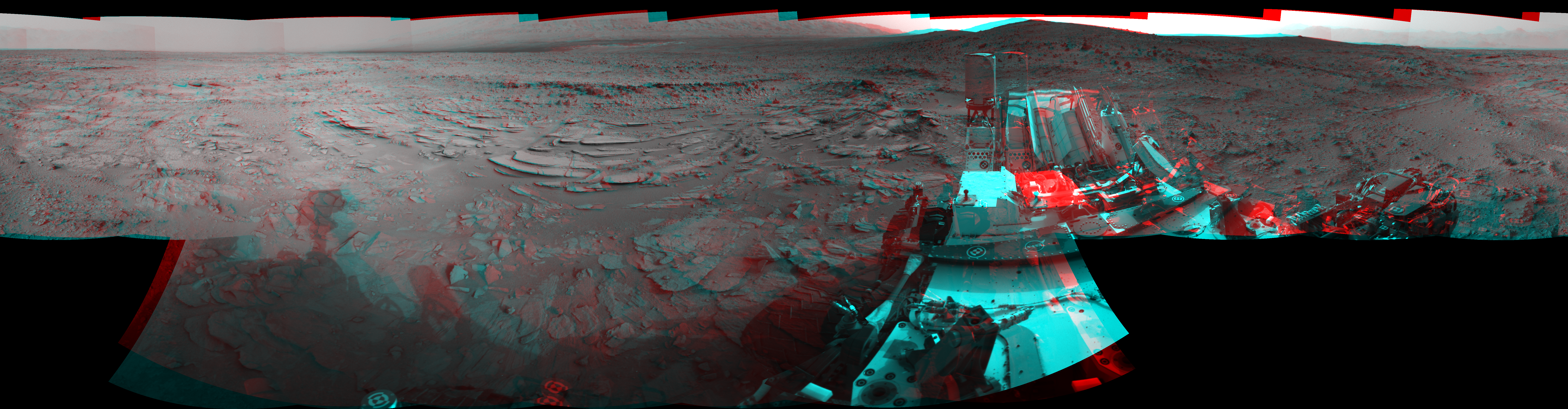 This 3D Mosaics image was acquired by NASA's Mars rover Curiosity on Sol 120, at drive 742, site number 5.