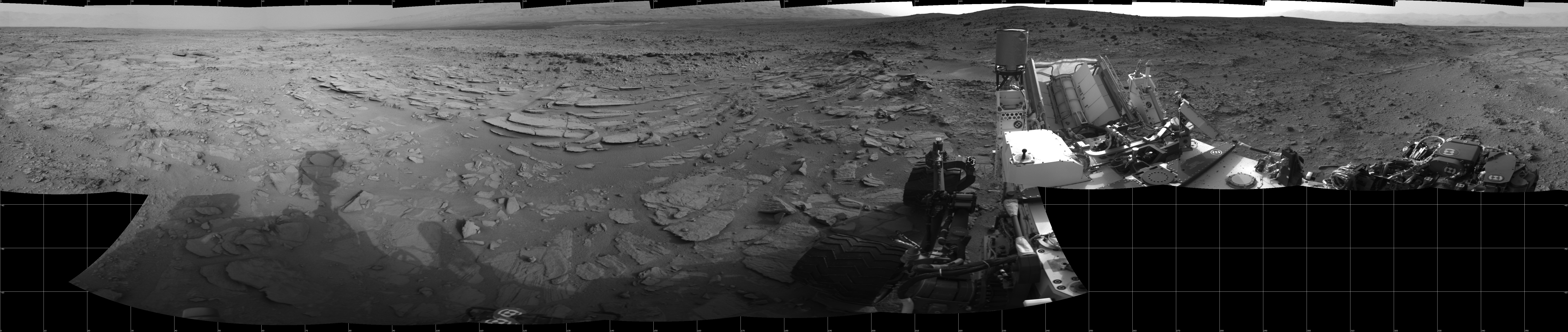 This Cylindrical image was acquired by NASA's Mars rover Curiosity on Sol 120, at drive 742, site number 5.