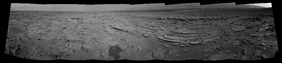 This Cylindrical Perspective image was acquired by NASA's Mars rover Curiosity on Sol 120, at drive 742, site number 5.