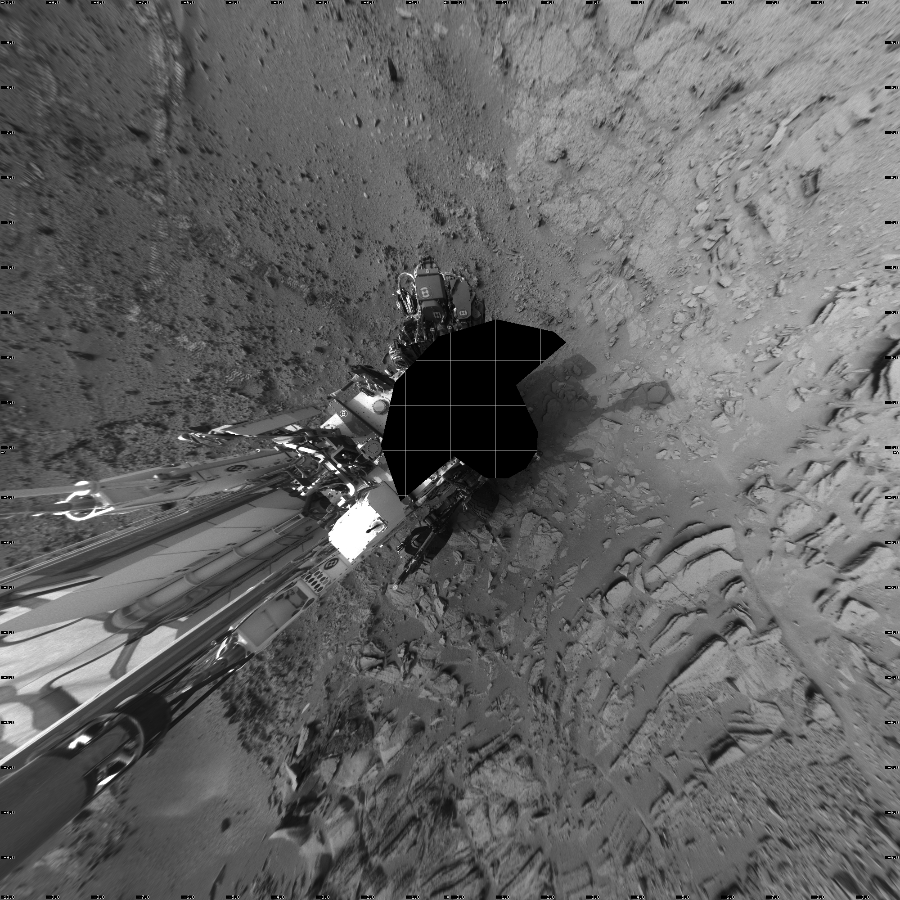 This Vertical Projection image was acquired by NASA's Mars rover Curiosity on Sol 120, at drive 742, site number 5.