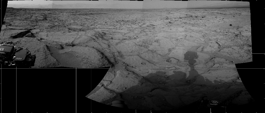 This Cylindrical image was acquired by NASA's Mars rover Curiosity on Sol 121, at drive 926, site number 5.