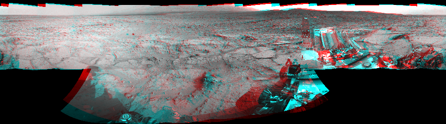 This 3D Mosaics image was acquired by NASA's Mars rover Curiosity on Sol 122, at drive 938, site number 5.